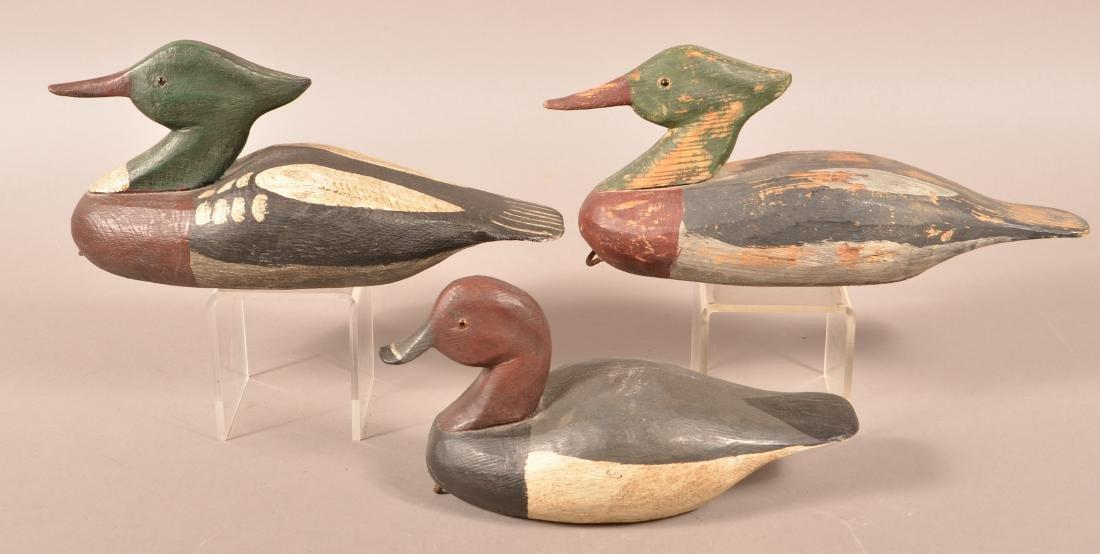 3 Romie Waterfield Carved Duck Decoys. - 2