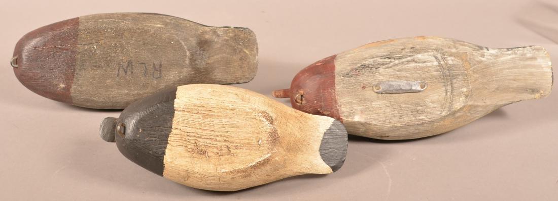 3 Romie Waterfield Carved Duck Decoys. - 3