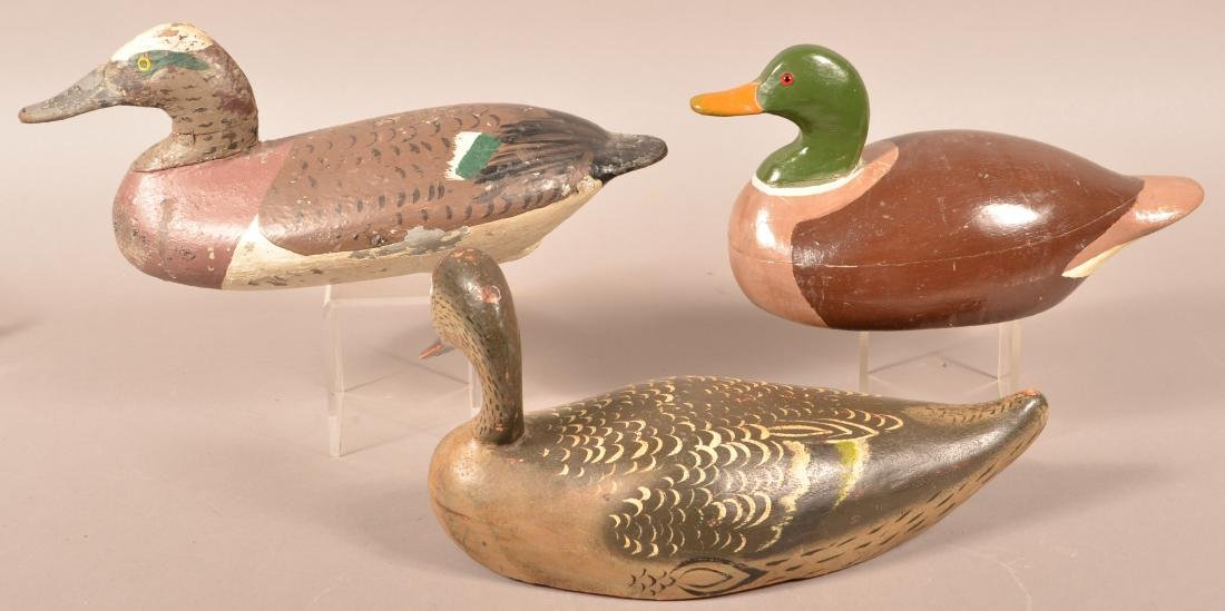 Three Unsigned Carved Duck Decoys. - 2