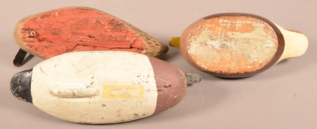 Three Unsigned Carved Duck Decoys. - 3