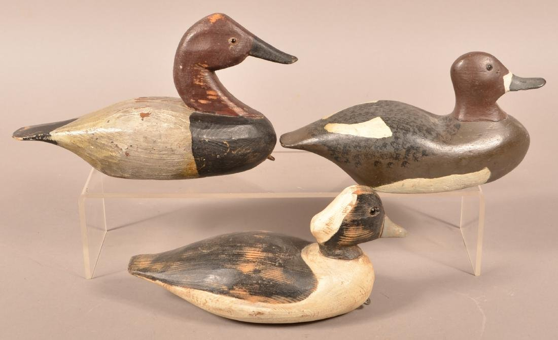 Three Unsigned Carved Duck Decoys - 2
