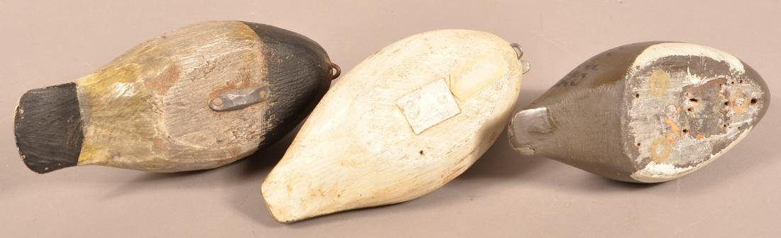 Three Unsigned Carved Duck Decoys - 3