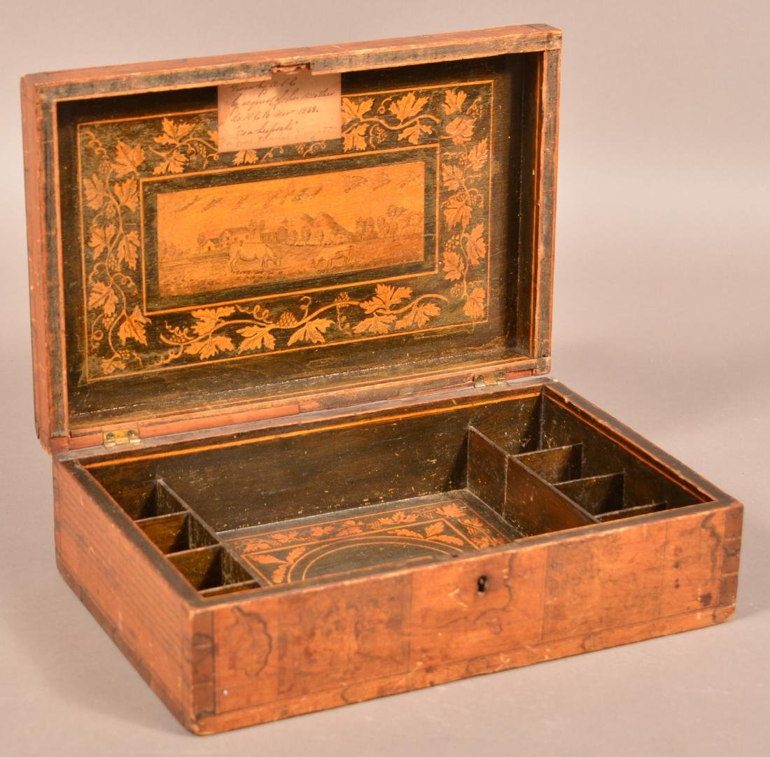 Mid 19th Century Softwood Jewelry Casket.