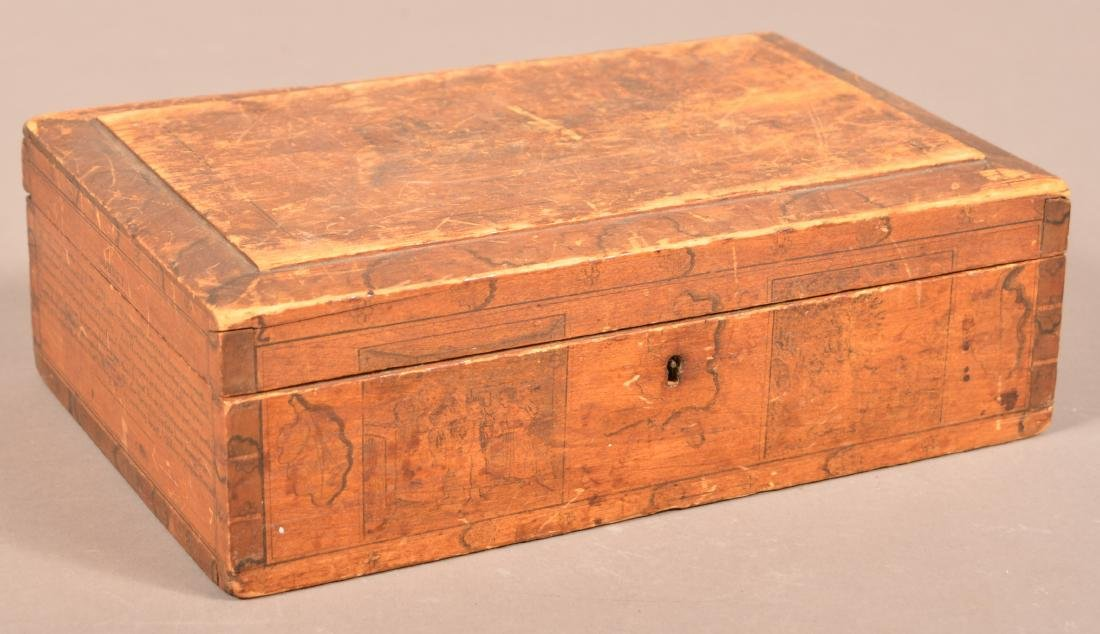 Mid 19th Century Softwood Jewelry Casket. - 4