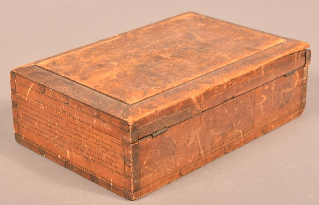 Mid 19th Century Softwood Jewelry Casket. - 5