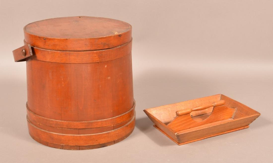 Antique Firkin and Utensil Carrier. - 2