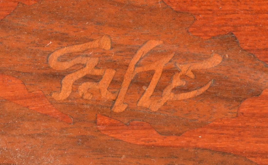 Emile Galle Art Nouveau Marquetry Wood Tray. - 3