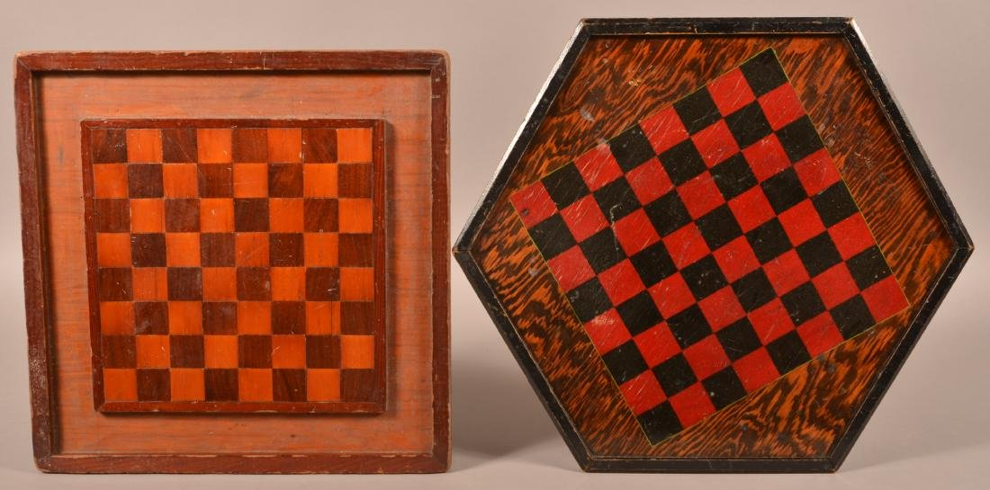 Two Vintage Game Boards.