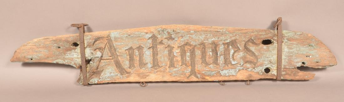 """19th Century """"Antiques"""" Trade Sign. - 2"""