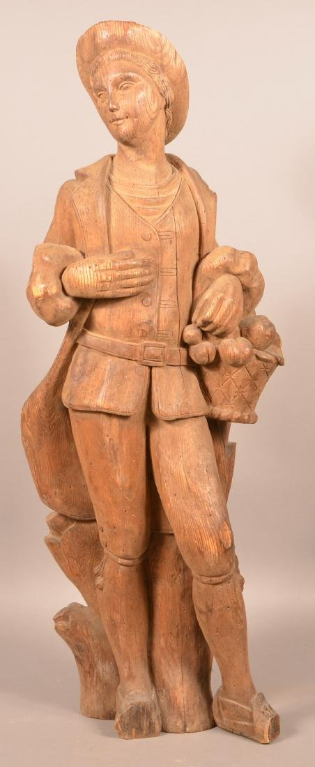 Antique Carved Wood figure of a Man.