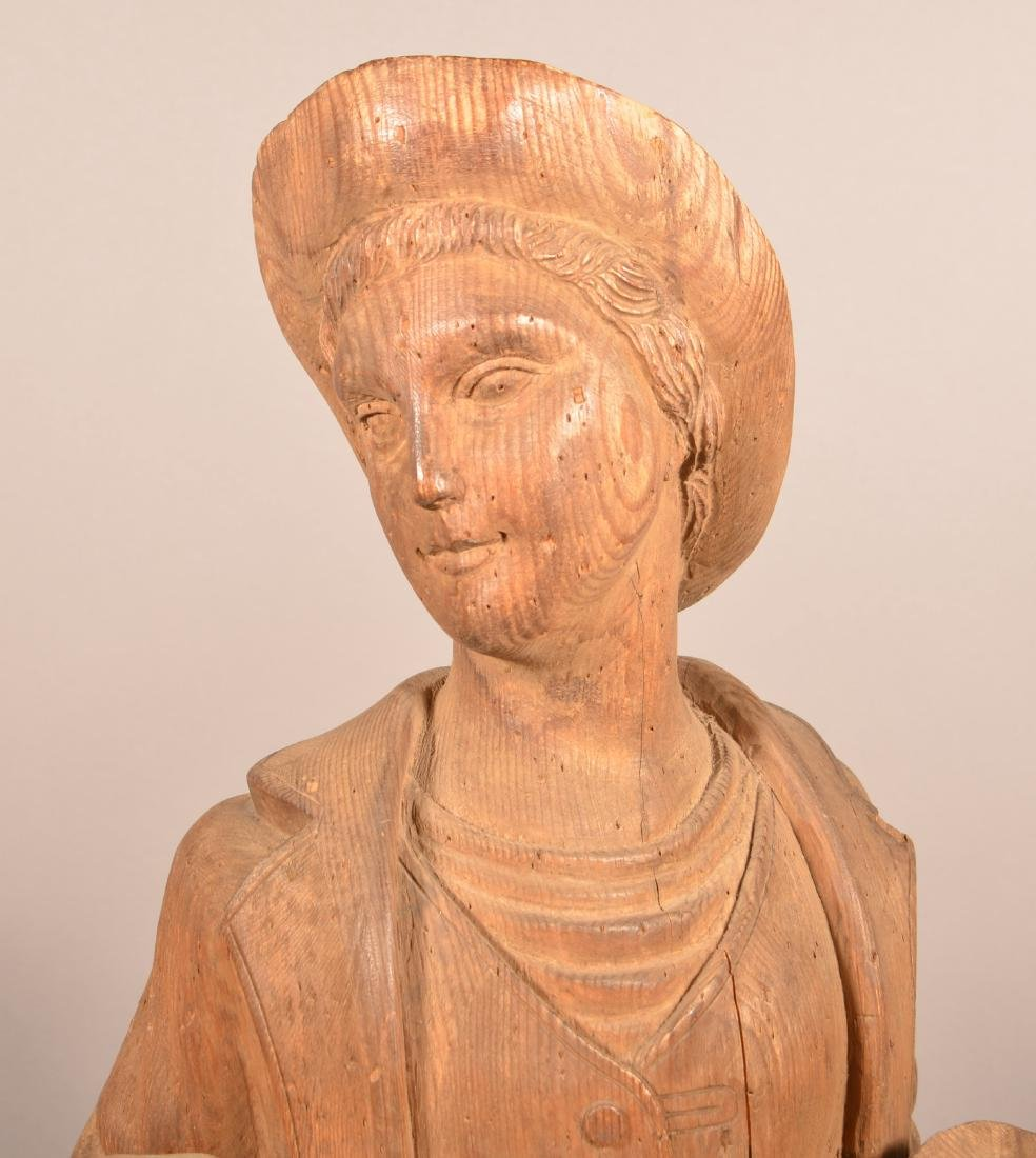 Antique Carved Wood figure of a Man. - 2