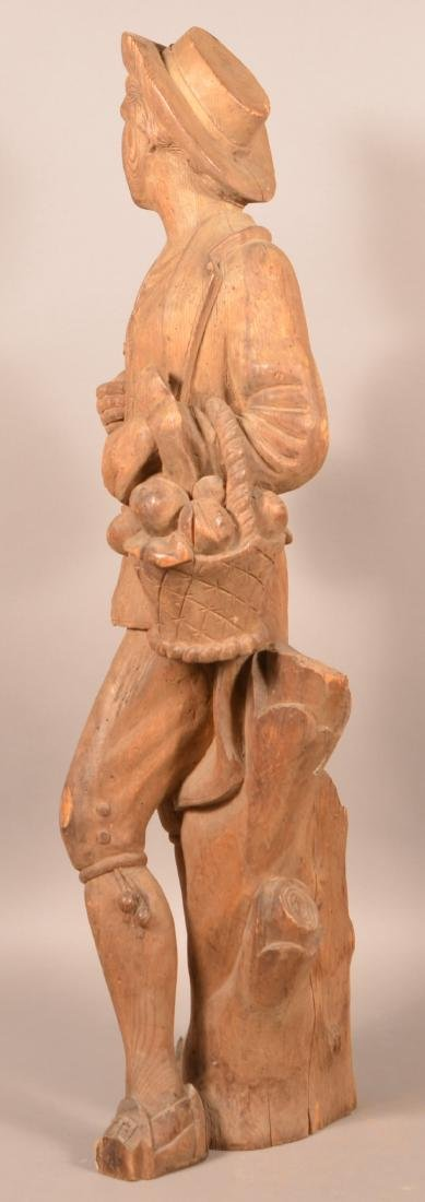 Antique Carved Wood figure of a Man. - 3