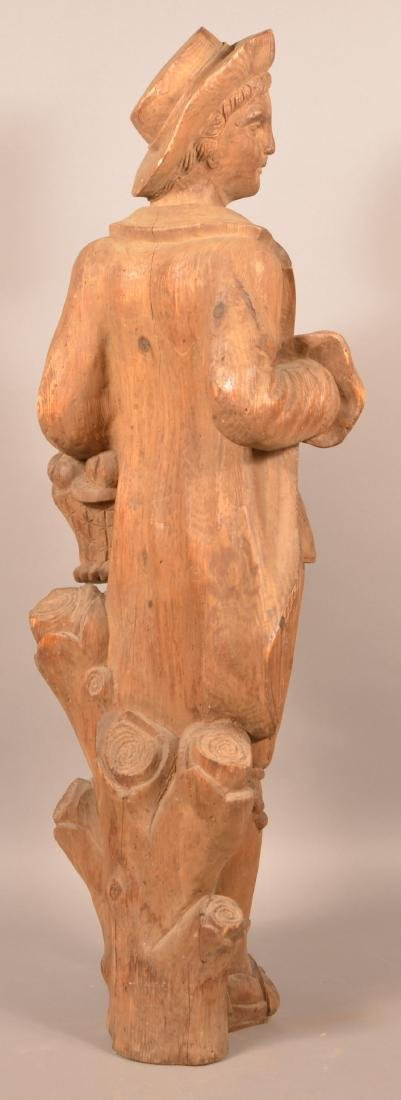 Antique Carved Wood figure of a Man. - 4