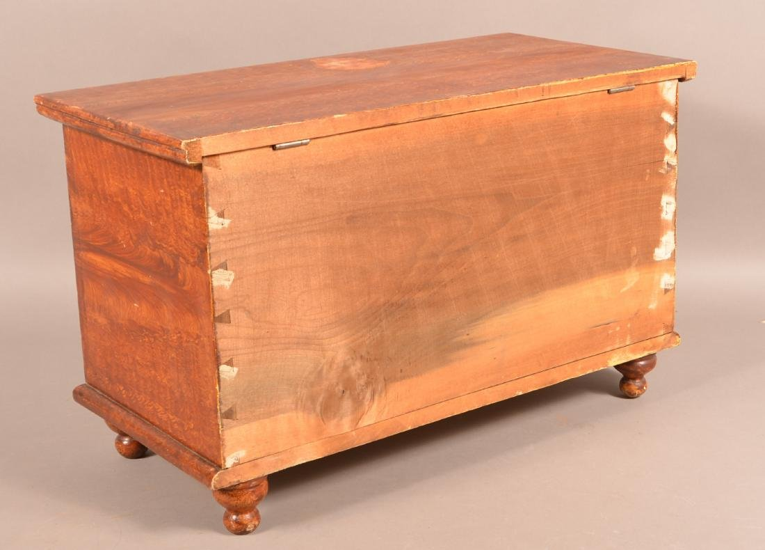 PA Grain Decorated Miniature Blanket Chest. - 4