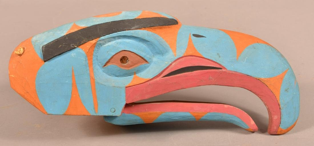 Canadian Carved and Painted Hawk Mask.