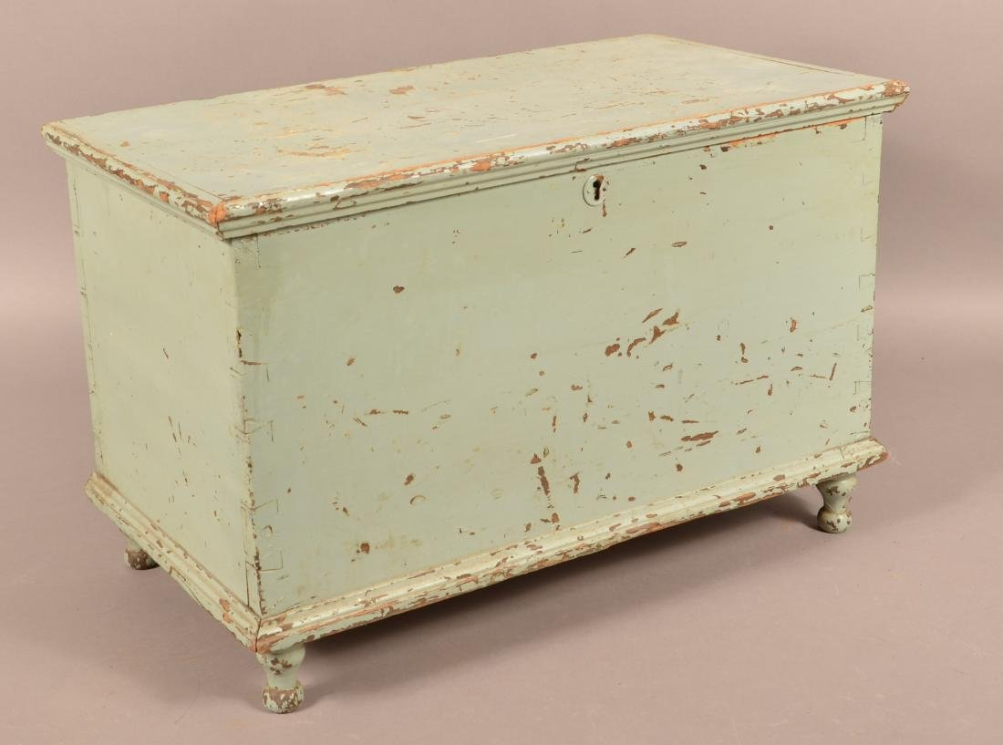 19th Century Miniature Softwood Blanket Chest.