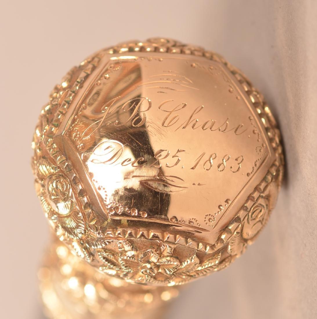 J.B Chase 1883 Victorian Presentation Cane - 2