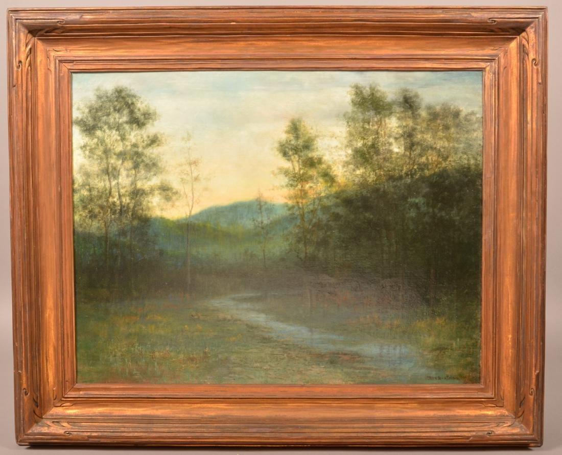 Ben Austrian Oil on Canvas Landscape Painting.