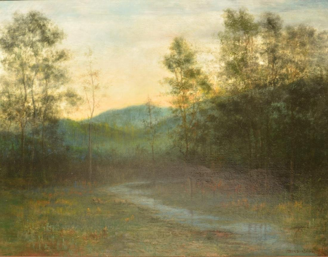 Ben Austrian Oil on Canvas Landscape Painting. - 2