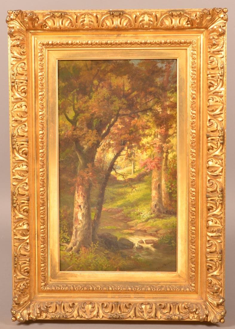 John Heyl Raser Oil on Board Landscape Painting.