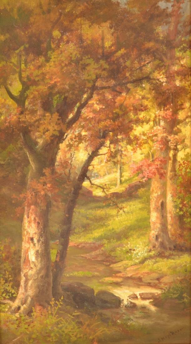 John Heyl Raser Oil on Board Landscape Painting. - 2