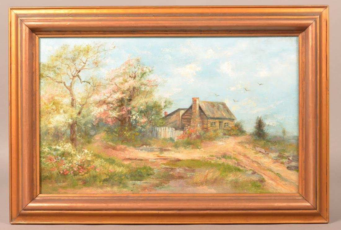 Mary B. Leisz Oil on Canvas Landscape Painting.