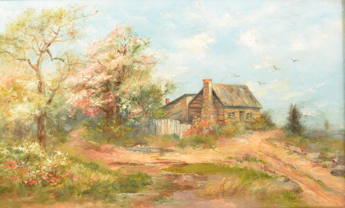 Mary B. Leisz Oil on Canvas Landscape Painting. - 2