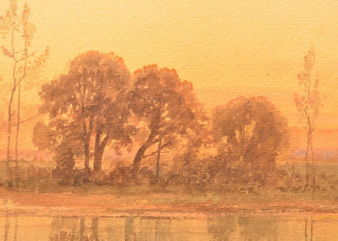 Carl Weber Watercolor Landscape Painting. - 4