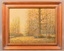 Raphael Senseman Autumn Landscape Painting