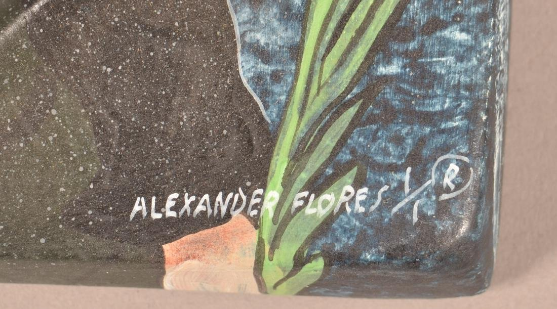 Three Alexander Flores Mexican Ceramic Wall Tiles. - 2