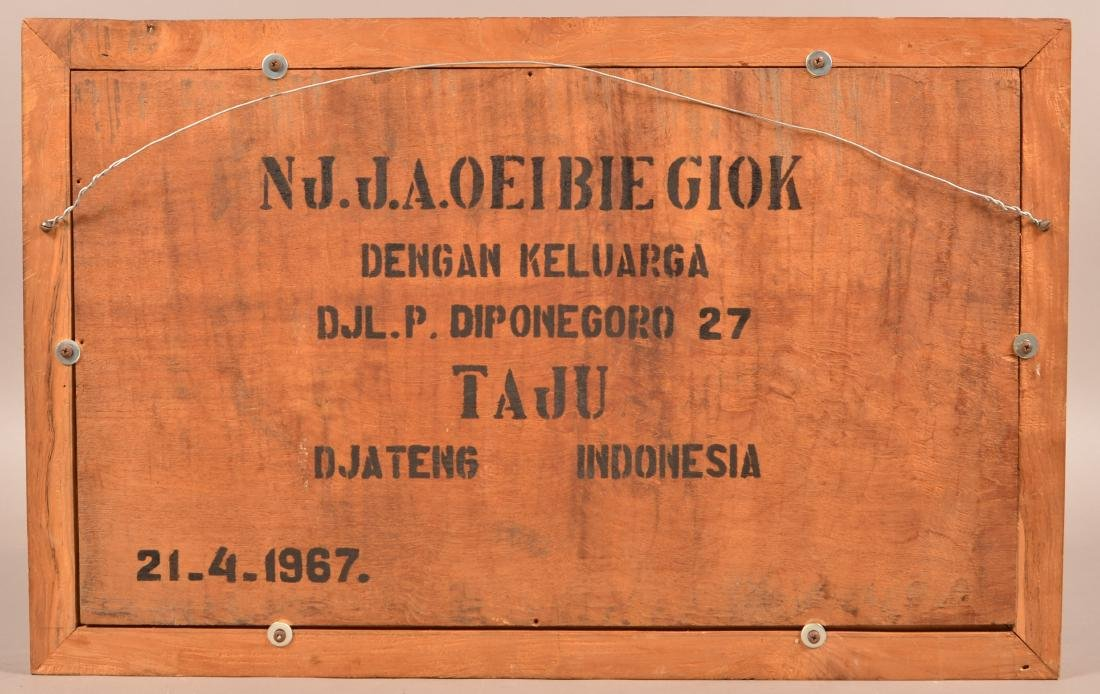 Framed Indonesian Three Dimensional Carving. - 2