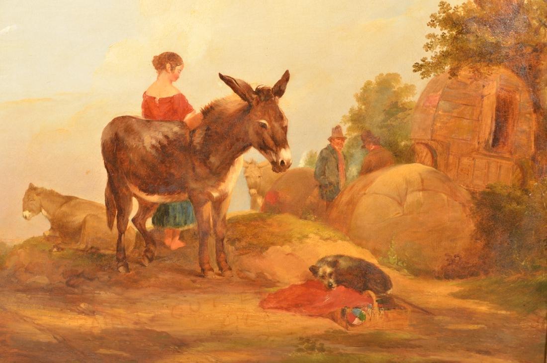 European Oil on Canvas Landscape Painting. - 2