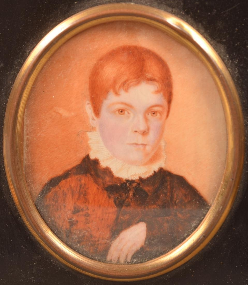 2 Early 19th Century Miniature Portrait Paintings. - 2