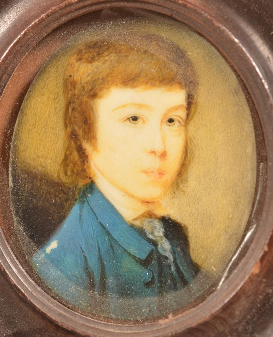 2 Early 19th Century Miniature Portrait Paintings. - 3