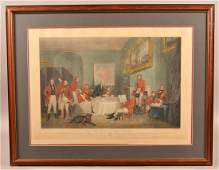 The Melton Breakfast Large Hand Colored Print.