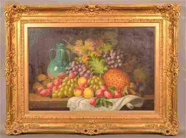 Charles Thomas Bale Oil on Canvas Still Life.