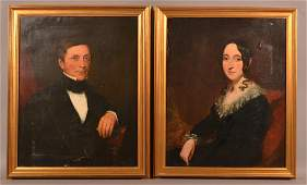 Pair of 19th Century Oil on Canvas Portraits.