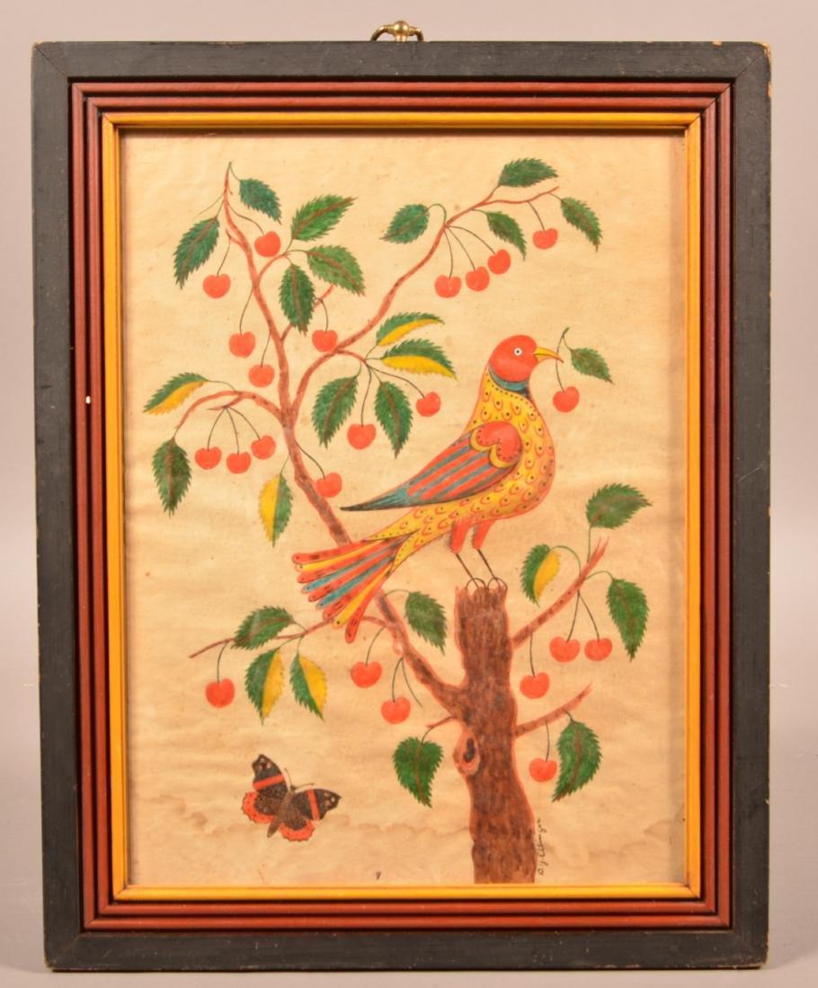 D.Y. Ellinger Watercolor on Paper Painting.