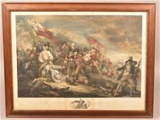 The Battle at Bunkershill Steel Plate Engraving.