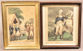 Two Currier and Ives Color Lithographs