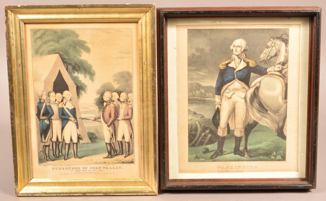 Two Currier and Ives Color Lithographs.