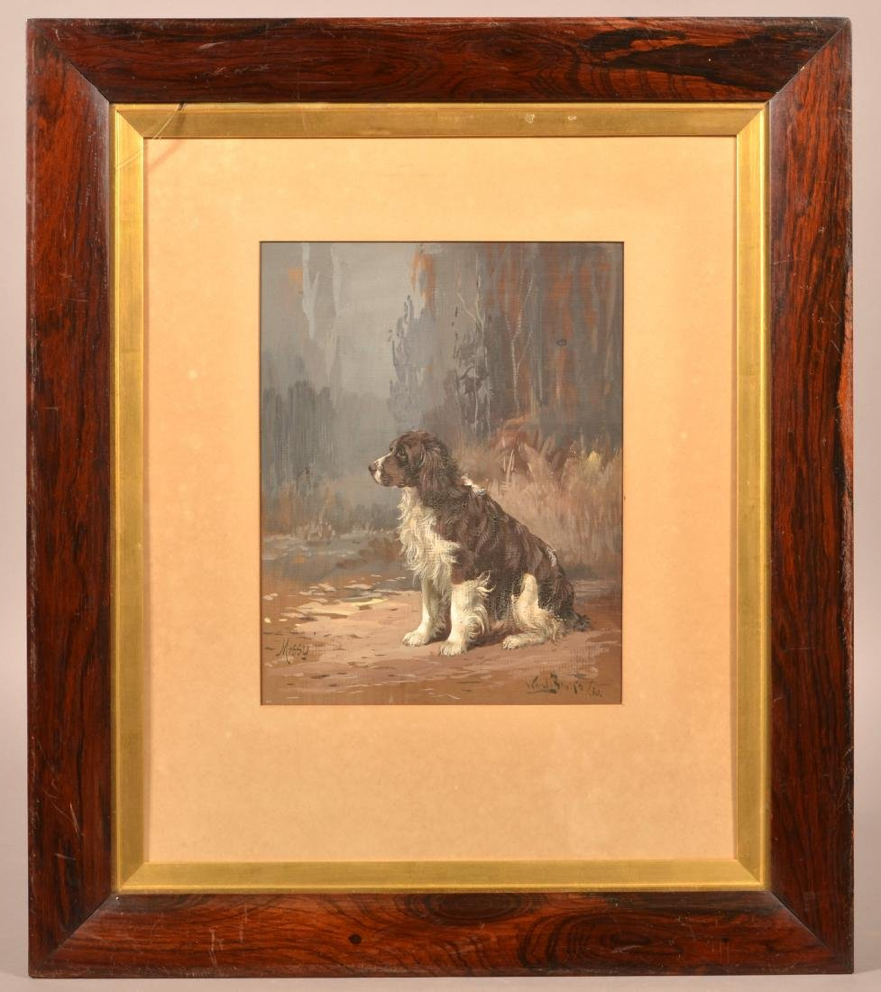 1930 Reuben Ward Binks Painting of a Spaniel.