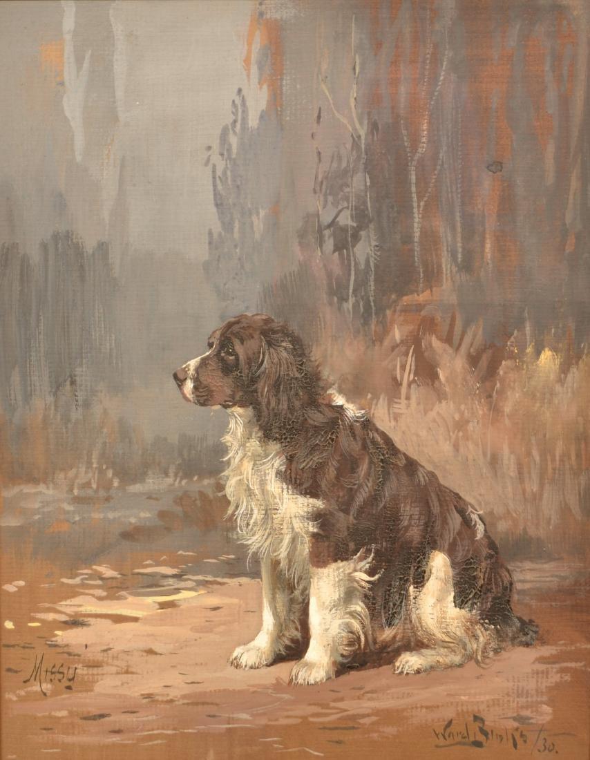 1930 Reuben Ward Binks Painting of a Spaniel. - 2