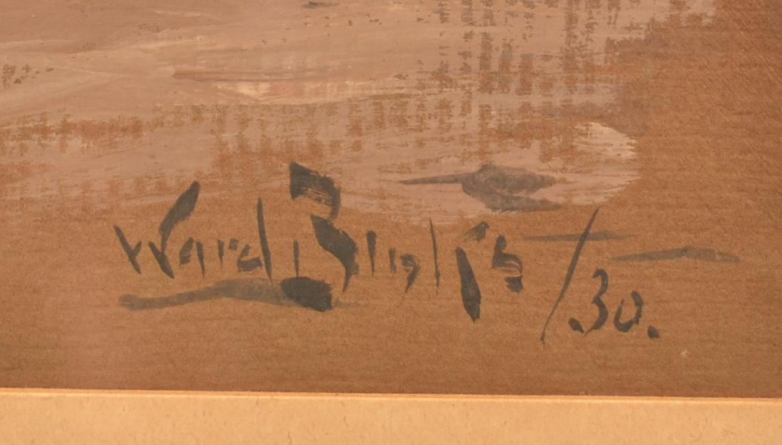 1930 Reuben Ward Binks Painting of a Spaniel. - 3