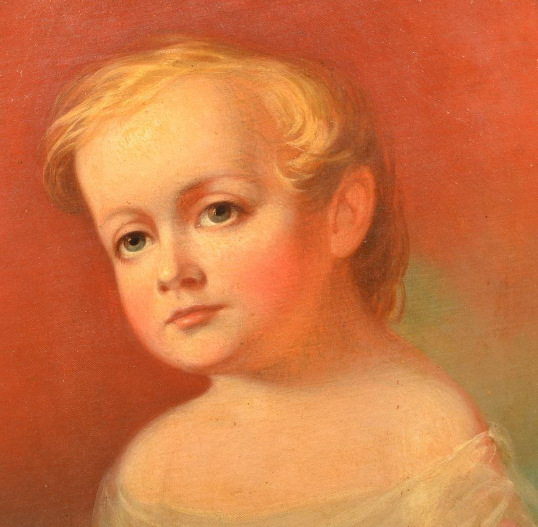 Rare Oil on Canvas Portrait of a young Boy. - 2