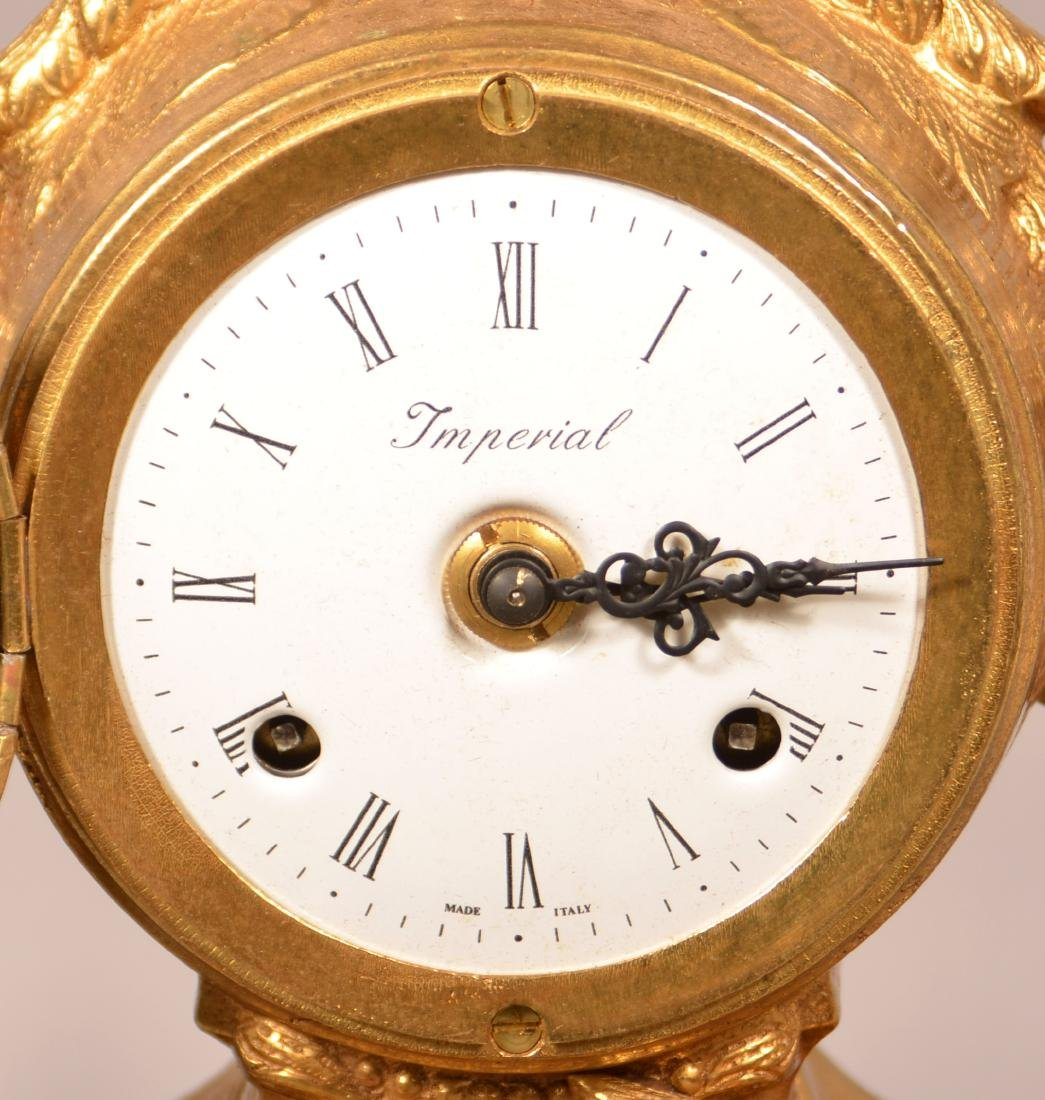 Vintage Brass Figural Shelf Clock. - 2