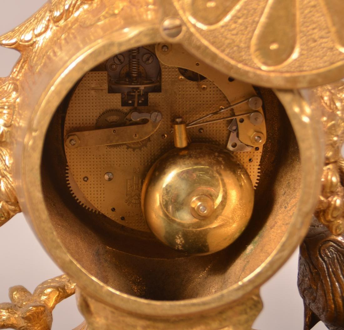 Vintage Brass Figural Shelf Clock. - 5