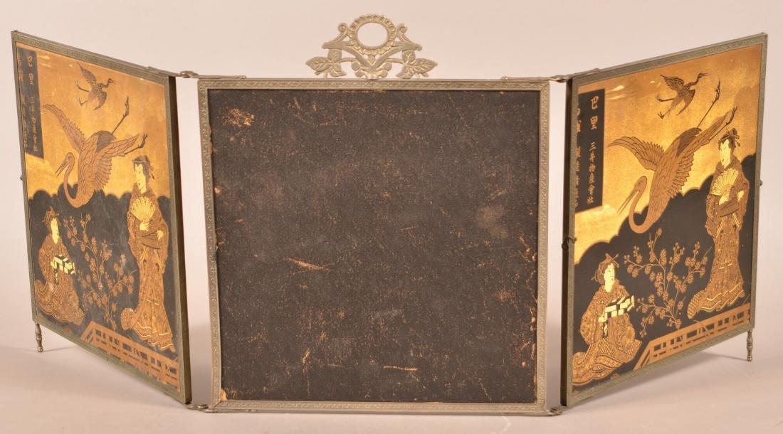 Victorian Three Part Folding Mirror. - 4