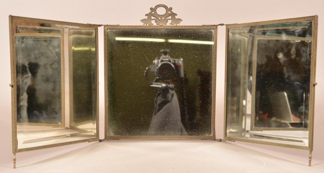 Victorian Three Part Folding Mirror. - 5
