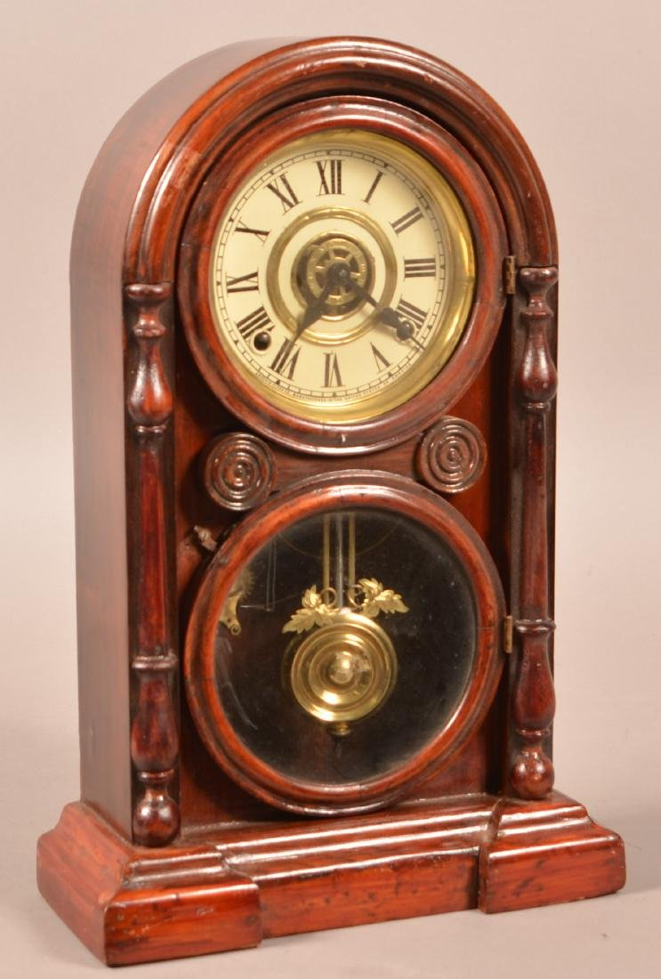Ansonia Rosewood Case Shelf Clock.